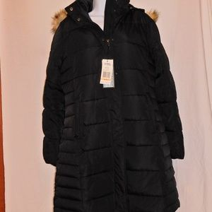 ❄Spire by Galaxy Women's Knee Length Parka - Black